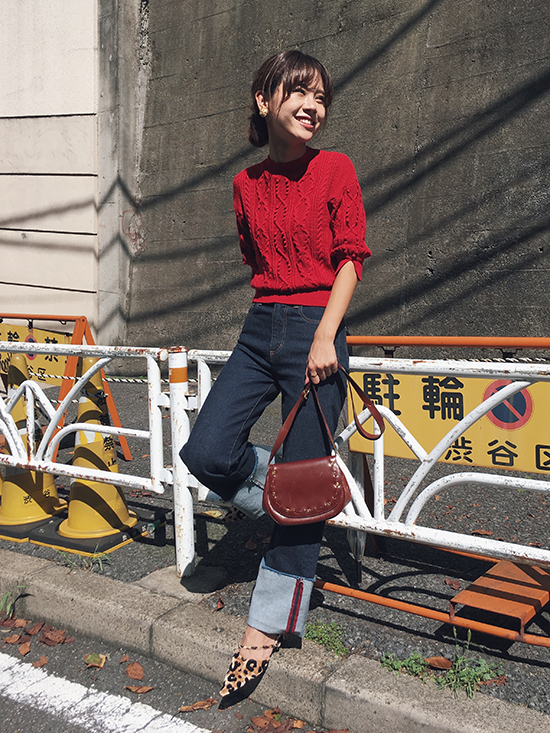 yukin_CABLE SHORT KNIT