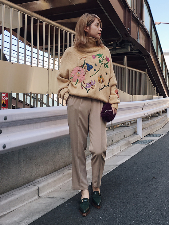 yuko_LAUREN TURTLE NECK KNIT
