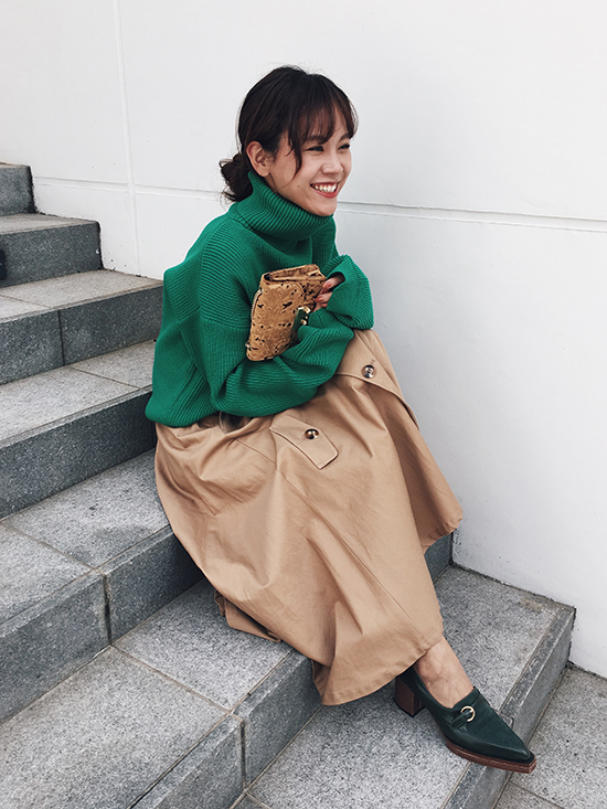yukin_OVER TURTLE KNIT