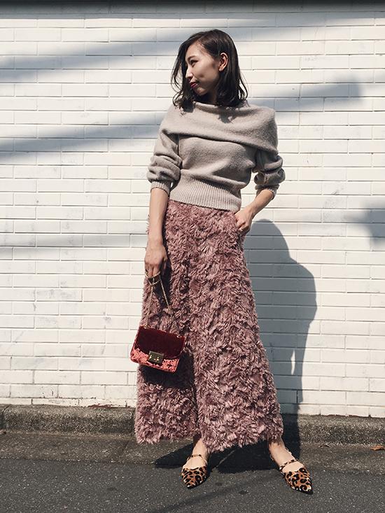 kaori_SHAGGY WIDE PANTS