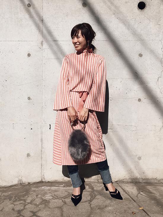 mai_SWITCHING WIDE RIB KNIT DRESS