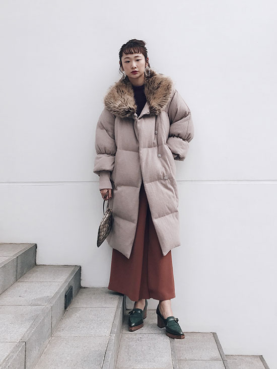 kae_OVAL LINE DOWN COAT