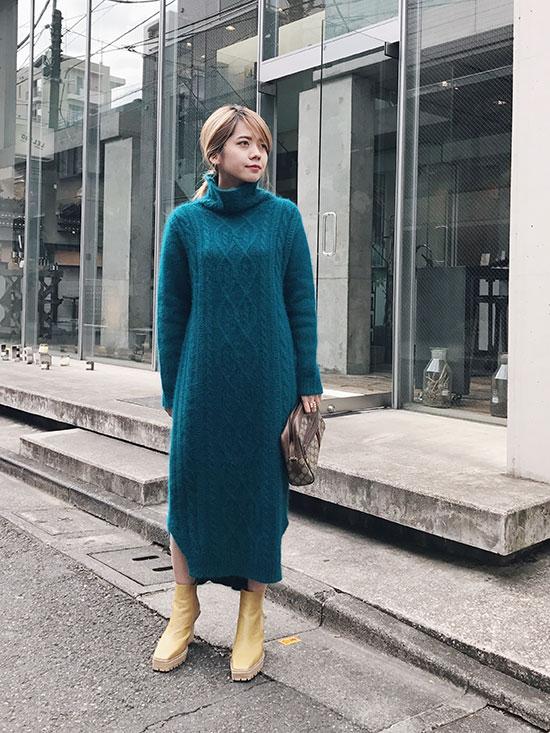 yuko_CABLE KNIT DRESS