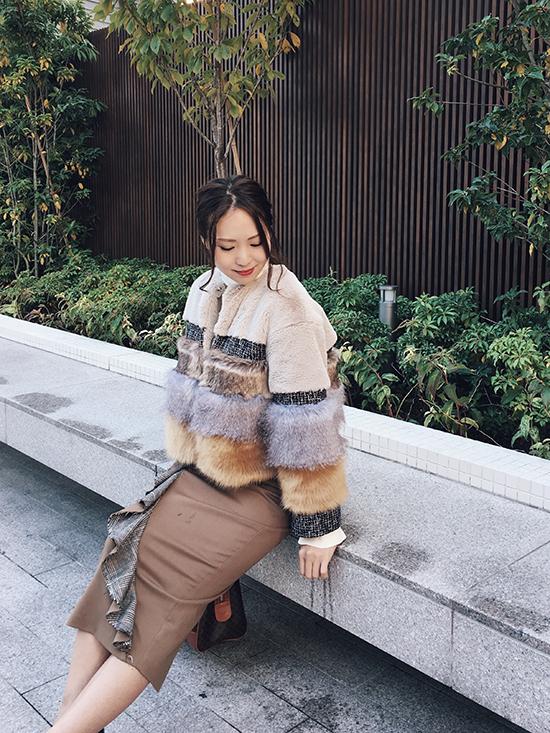 maki_MIXTURE FUR BLOUSON