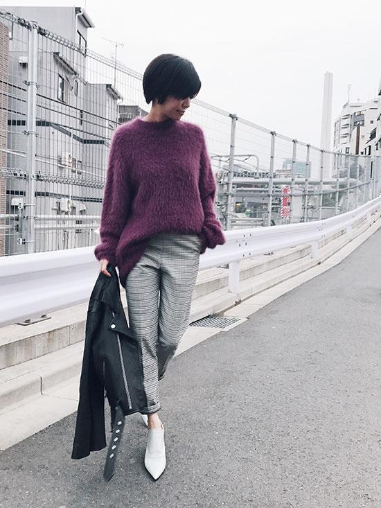 yukim_CLASSIC CHECK PANTS