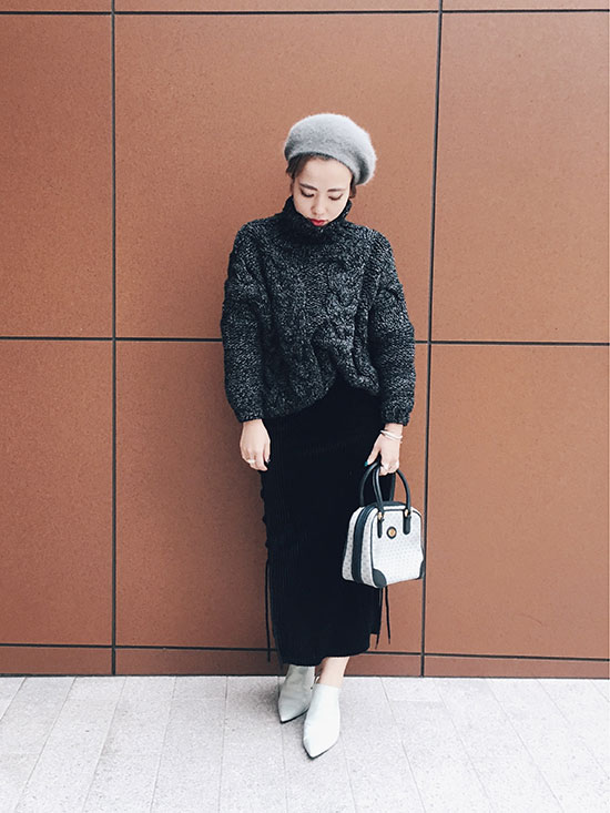 shioriok_MIXYARN CABLE KNIT