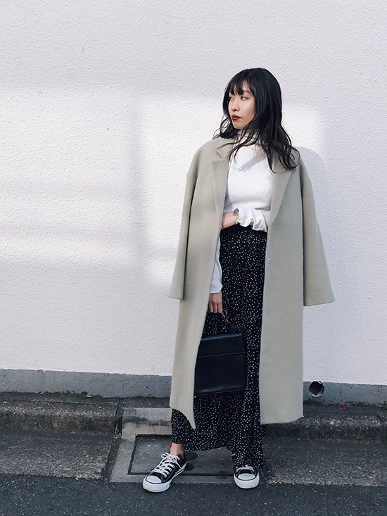 shiorioz_DOT TUCK WIDE PANTS