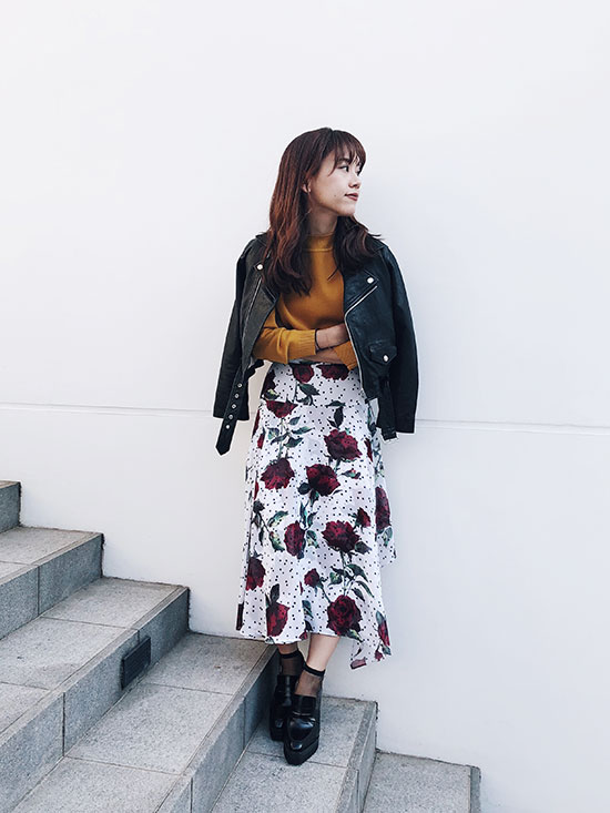 yukin_ROSE FALL IRREGULAR FLARE SKIRT