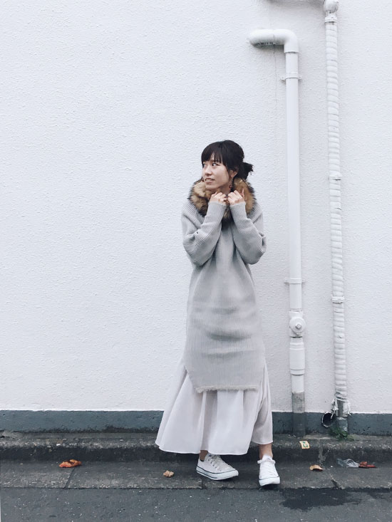 mai_BOTTLE KNIT DRESS