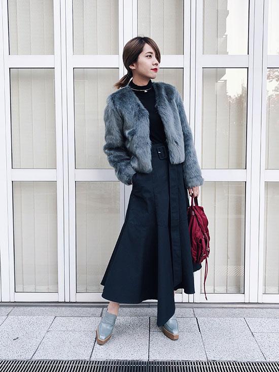 yuko_COLORFUL ECO FUR COAT