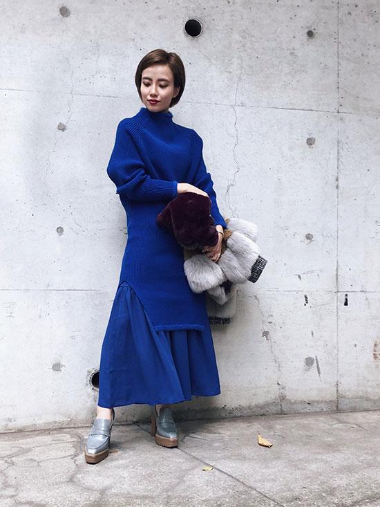 shioriok_BOTTLE KNIT DRESS