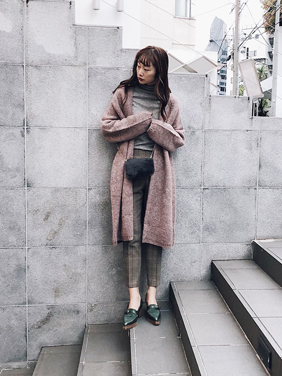kae_WARM LONG KNIT COAT