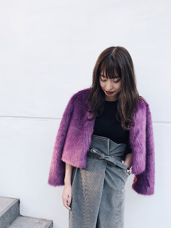 shiorioz_COLORFUL ECO FUR COAT