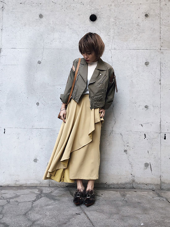 shioriok_SIDE FLARE LAYERED SK