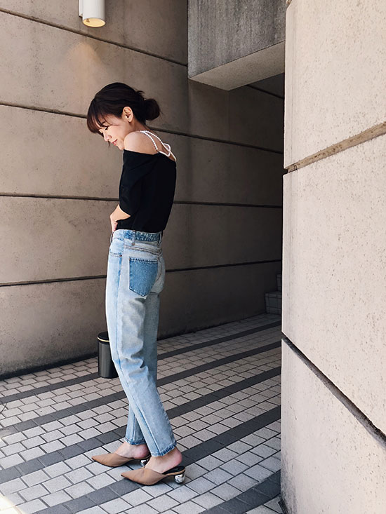 yukin_PEARL OFF SHOULDER TOP
