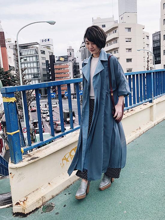 ayumi_SHEER LAYERED COAT