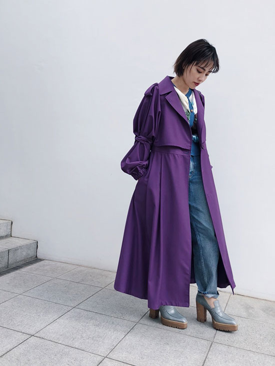 shioriok_GOURD SLEEVE TRENCH COAT
