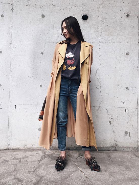 maki_SHEER LAYERED COAT