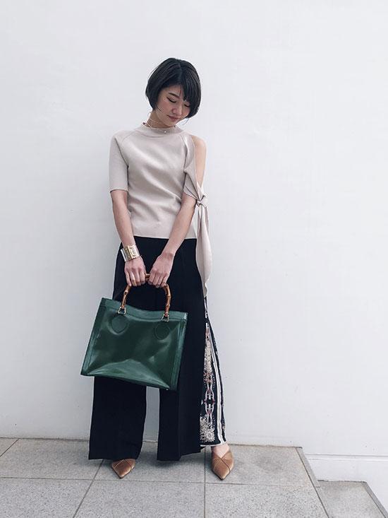 ayumi_LAYERED WIDE PANTS