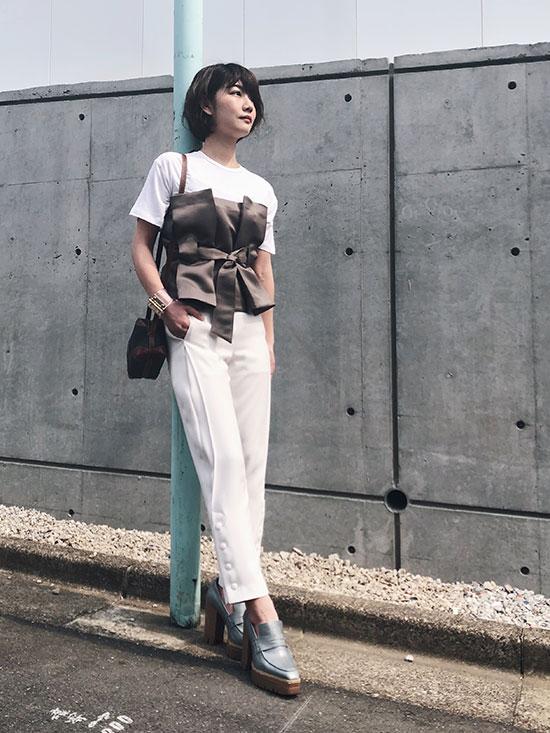 ayumi_BUTTON CLASSIC PANTS