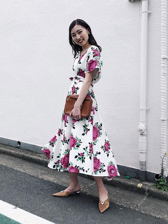 kaori_LUCY V-NECK DRESS