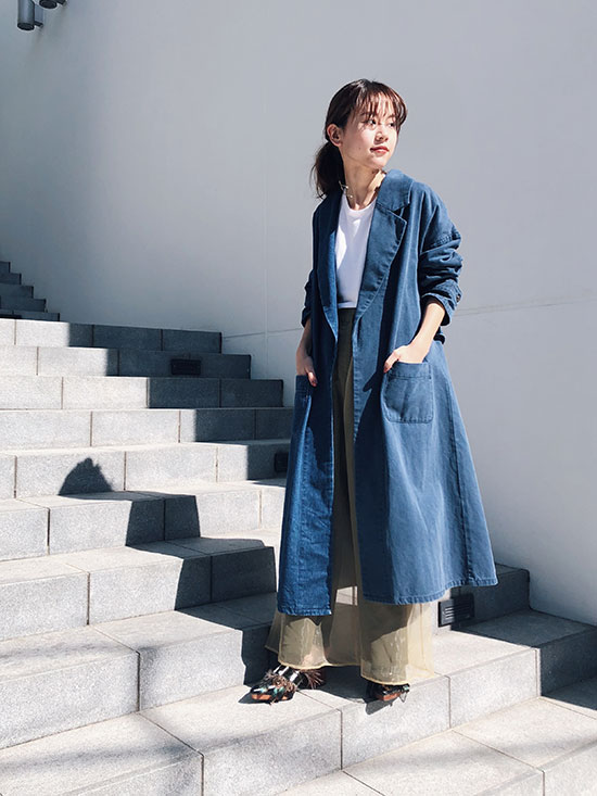 yukin_SPRING DENIM OVER COAT