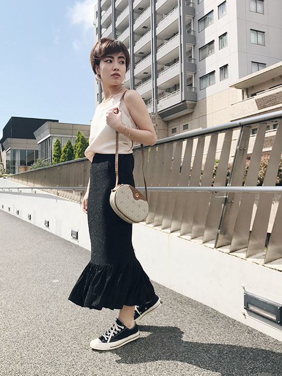 shioriok_MERMAIDE PLEAT SKIRT