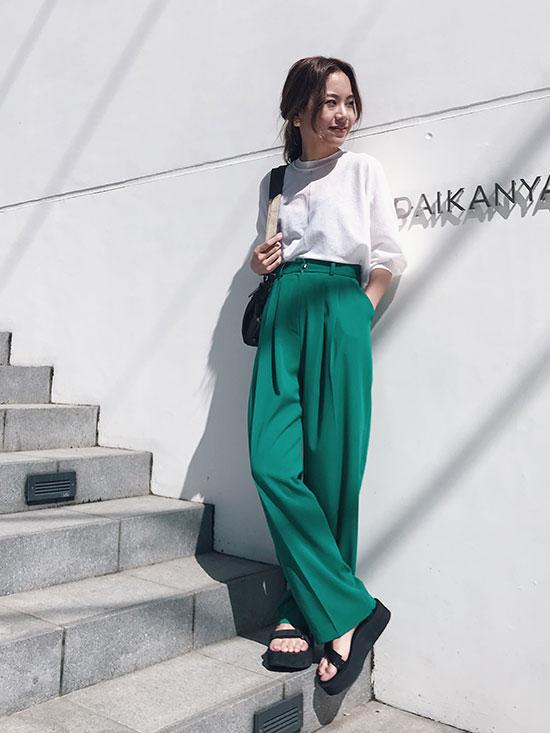 yukin_MAYO TUCK PANTS