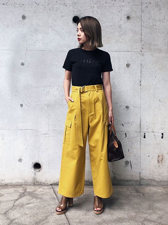 yuko_WIDE CARGO PANTS