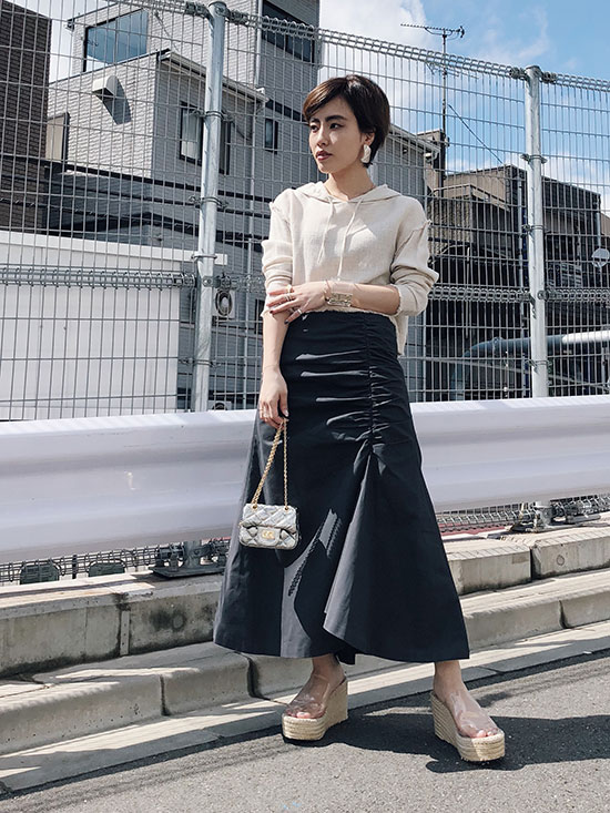 shioriok_GATHER IRREGULAR HEM SKIRT