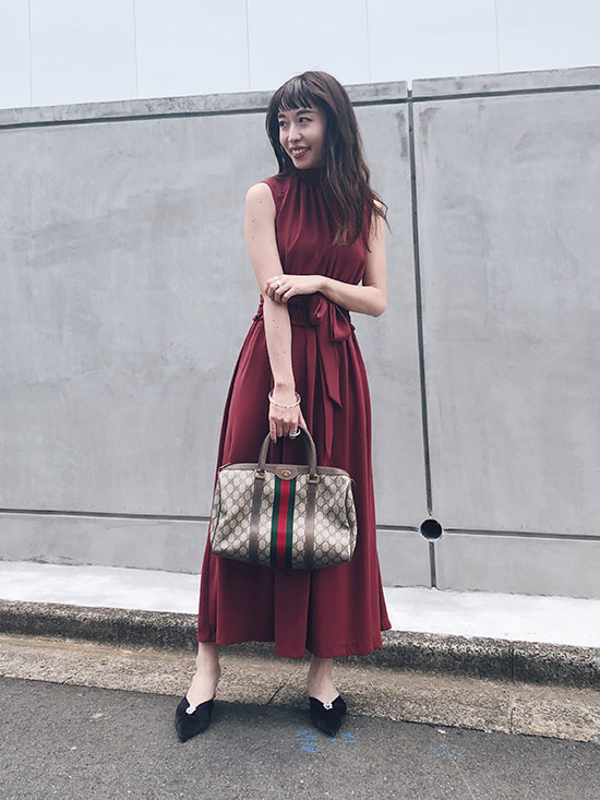 shiorioz_SHIRRING LONG DRESS
