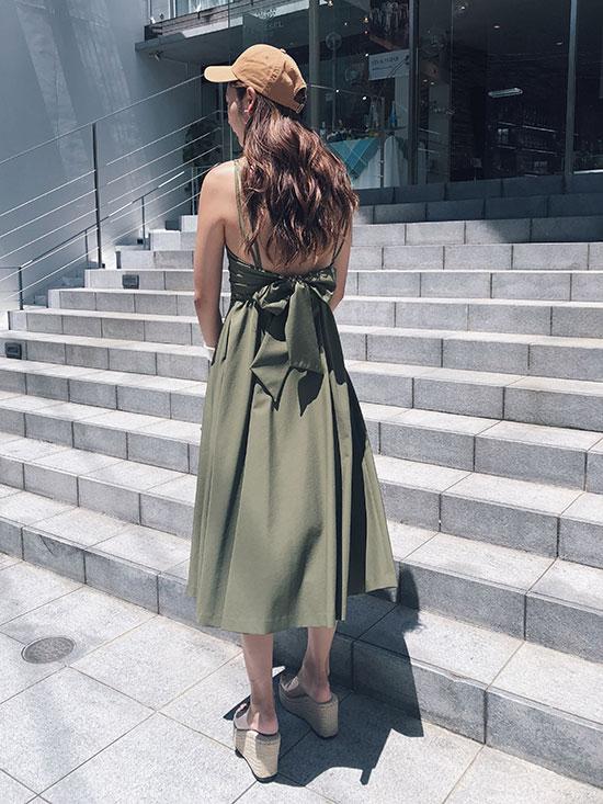 kae_MEDI LACE UP SLIT DRESS