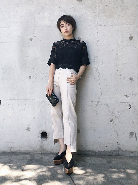 shioriok_VINTAGE LIKE LINE PANTS