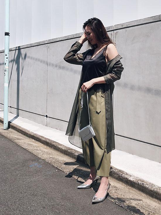 maki_SHEER SHIRT DRESS