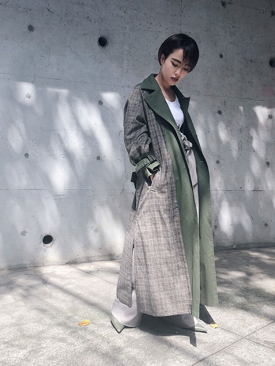 shioriok_REVERSIBLE TRENCH COAT