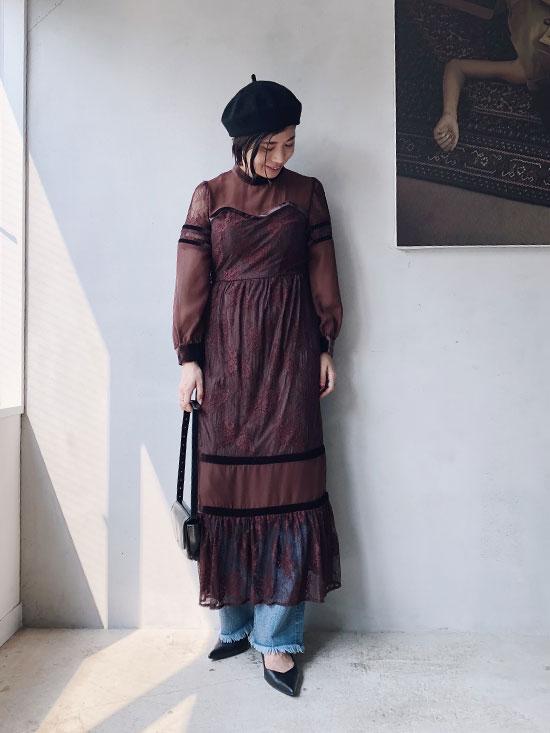 yukim_SHEER LACE DRESS