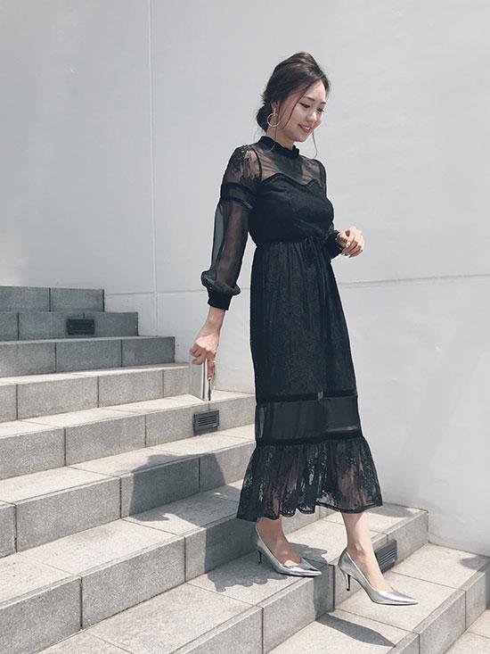 maki_SHEER LACE DRESS