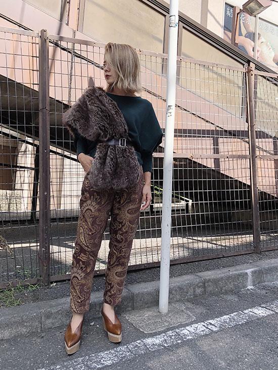 yuko_ORIGAMI CLOAK KNIT