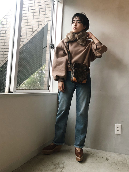 shioriok_2WAY ECO FUR SWEAT