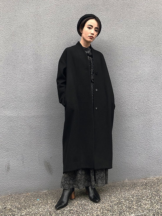 shioriok_SIMPLE NO COLLAR COAT