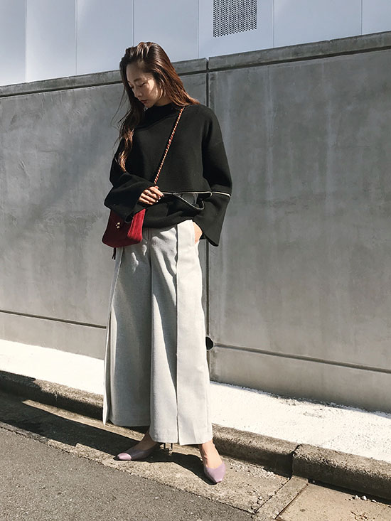 kae_HIGH WAIST BELT PANTS