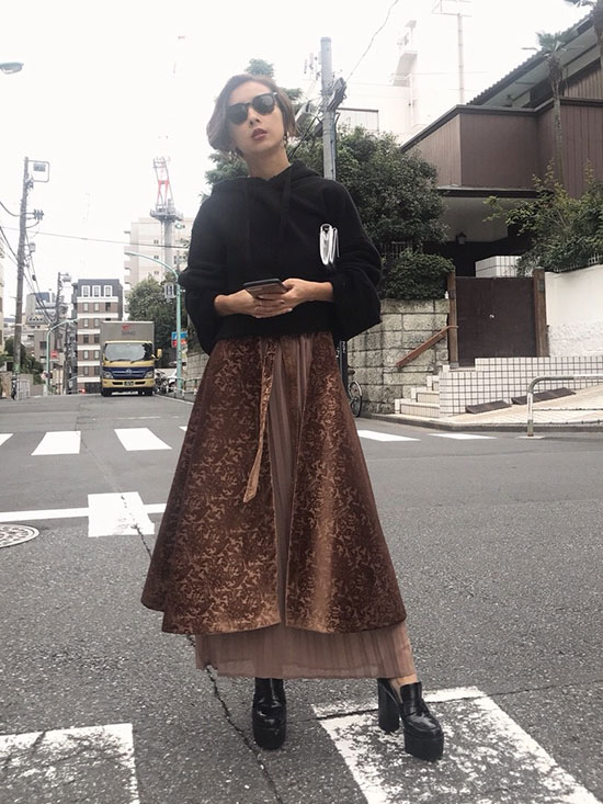 nao_ARABESQUE LAYERED SKIRT