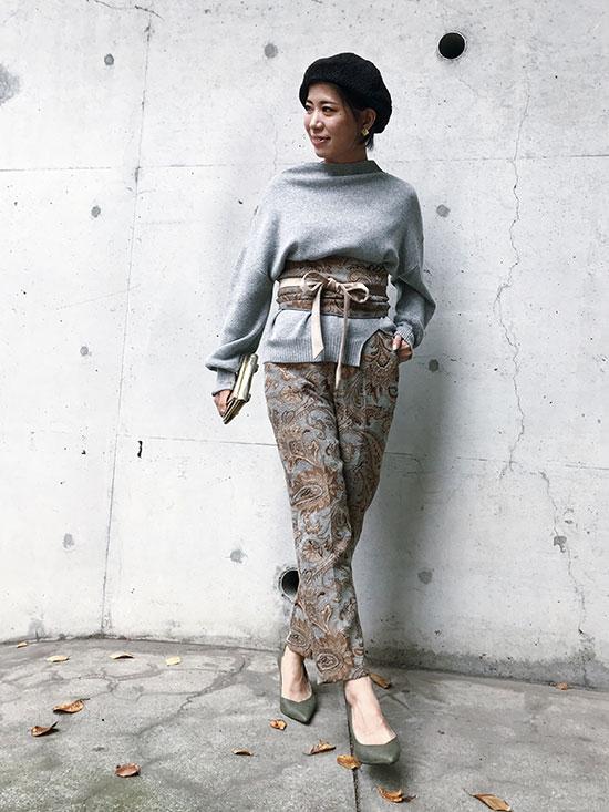 yukim_PAISLEY RUG PANTS