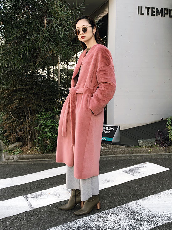 kae_2WAY SOFT BOA LONG COAT
