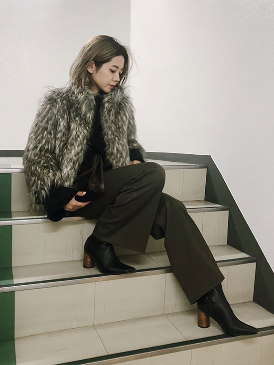 yuko_MIX FUR JACKET