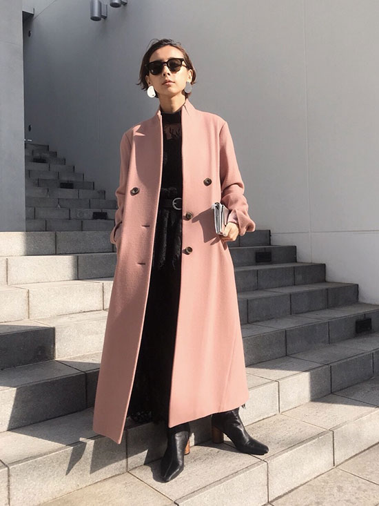 nao_STAND COLLAR TAILORED COAT
