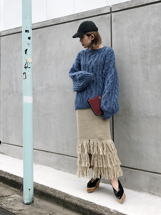 yuko_MOHAIR BIG CABLE KNIT