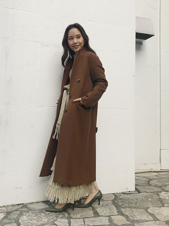 yukin_STAND COLLAR TAILORED COAT