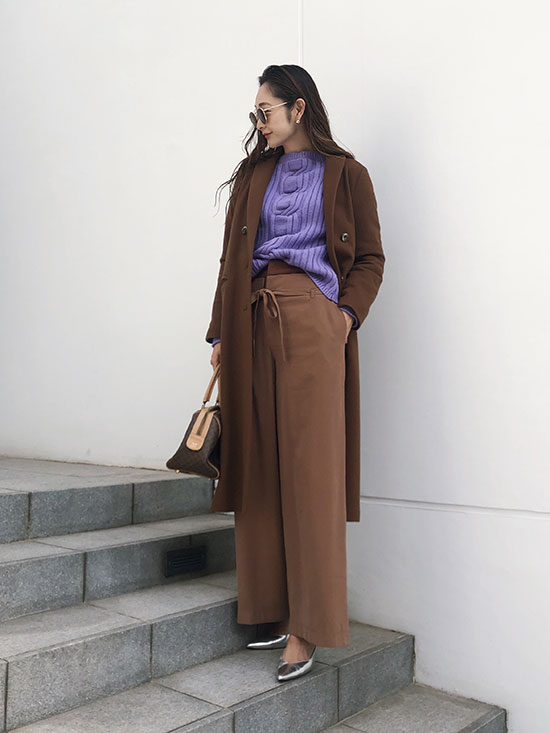 kae_WAIST LAYERED WIDE PANTS