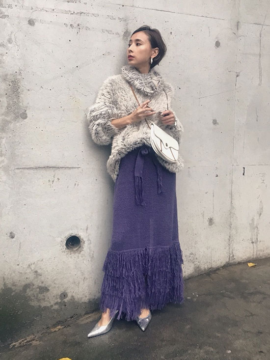 nao_HUNTER FEATHER KNIT